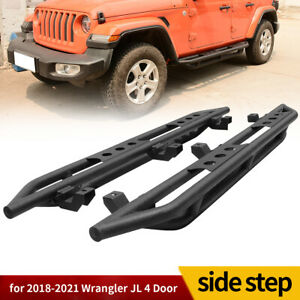 For 2018 2020 Jeep Wrangler Jl Unlimited 4dr Running Boards Side Steps Nerf Bars