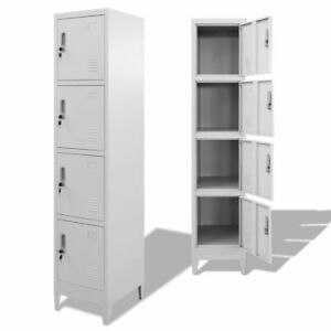 Locker Cabinet With 4 Compartments 15 x17 7 x70 9 Q1i3