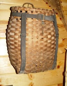 Antique Trappers Adirondack Gathering Pack Basket Child S Size