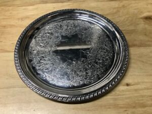 Wm Rogers Eagle Star 0870 Silverplate 10 Vintage Serving Tray Platter