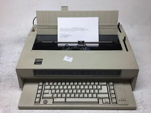 Ibm Lexmark Typewriter Wheelwriter Iii 3 Word Processor With Used Ribbon Cable