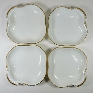 Antique Old Paris Signed Porcelain Nast Bowls Set Of 4