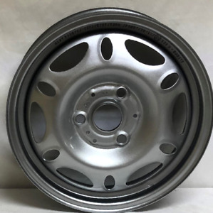 15 Inch 3 Lug Silver Steel Wheels Fits Smart Car Front 2008 2014 We28158 New