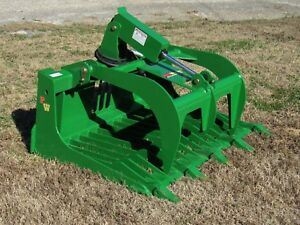 John Deere Tractor Loader Attachment 48 Rock Bucket Grapple Free Ship