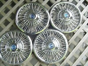 1965 1966 1967 Ford Mustang Fairlane Spinner Hubcaps Wheel Covers Center Caps