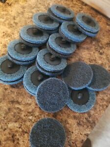 25 Scotch Brite 2 Blue Soft Roloc Surface Conditioning Disc Deburring Pads