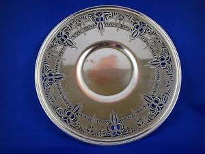 Benedict Silver Plated Charger Plate 671 10 Inch Vintage Silver