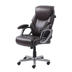 Serta Manager s Office Chair Comfort Coils Memory Foam Black Gray Brown