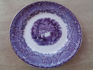 Antique English Blue Transferware 9 Pearlware Plate Podmore Walker Venus