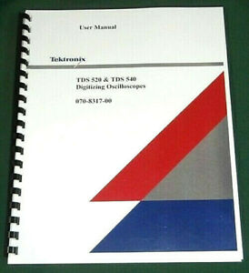 Tektronix Tds520 Tds540 User Manual Comb Bound Protective Covers