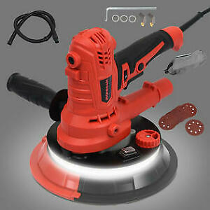 Electric Handheld Drywall Sander 900w Variable Speed W Vacuum Led Lights