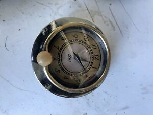 1938 1939 Ford Deluxe Glove Box Clock 6v Signed By Ford Made By New Haven
