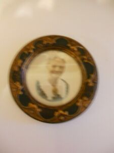 Vintage 1930 S Wood Round Picture Frame 4 5 Outside Diam Original Paper Back