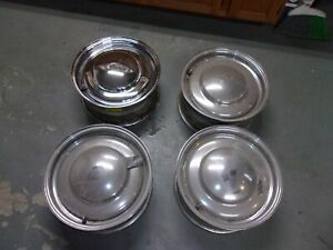 Rat Rod 15 X 7 Baby Moon Smoothie Rims Dual Bolt Pattern Ford 5 X 4 1 2