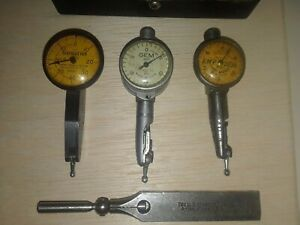 Federal Testmaster 0001 Test Indicator Jeweled 3 Lot Gem Starrett Kmp 3036