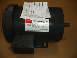Dayton Ac A c Industrial Electric Motor 230 460v 1hp 1725rpm 3n446d 60hz 56c 3ph