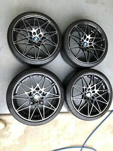Bmw 666m 20 Black Wheels Oem Tires Tpms F80 M3 F82 F83 M4 F87 M2