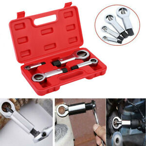 4pcs Broken Damaged Bolt Nut Splitter Cutter Remover Seized Damaged Screw Kit