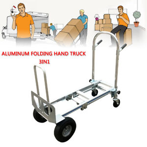 Commercial Aluminum Stair Climber Hand Truck Heavy Duty Flat Free Wheel 350kg Us