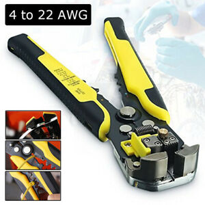 Automatic Wire Cable Striper Cutter Electric Stripping Pliers Handheld Cut Tool