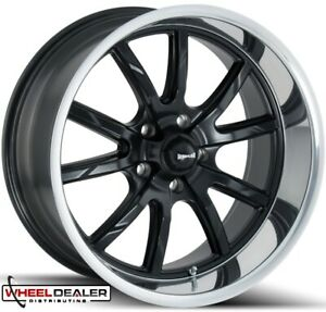 18x8 18x9 5 Ridler 650 Wheels Rims Satin Black Mopar Dodge Charger 1973 1974