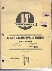 O 26 I t Shop Manual For Oliver 2255 And Minneapolis Moline G955 And G1355