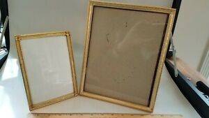 Two Vintage Metal Picture Frames 5x7 And 8x10 1950 S