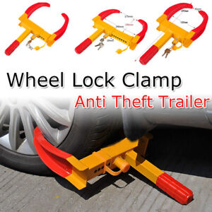 Wheel Lock Clamp Boot Tire Claw Auto Anti Theft For Car Cart Suv Trailer Rv Golf