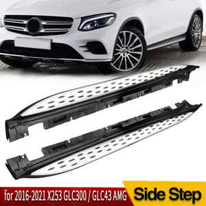 For 16 18 Mercedes Benz X253 Glc300 Glc43 Amg Running Board Side Step Nerf Bar