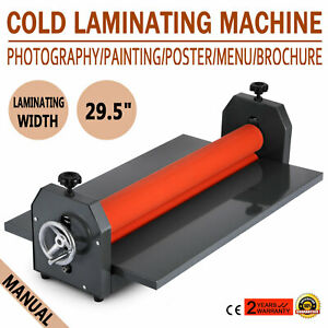 29 5in 750mm Manual Cold Roll Laminator Vinyl Photo Laminating Machine
