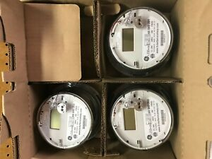 3x Ge I 210 Ce Digital Watthour Electric Smart Meter Cl 200 240v 3w Fm2s New