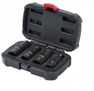 Husky 4 piece 1 2 In Driver Impact Flip Socket And Extension Set q
