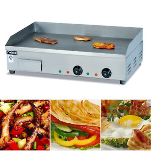 New 110v 4 4kw Heavy Duty Commercial Electric Countertop Griddle Stainless Steel