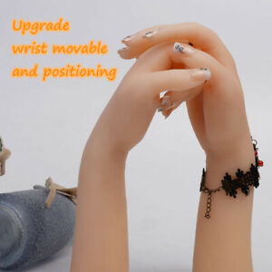 Silicone Female Hand Model Lifelike Finger Mannequin Display Jewelry Props 1pc