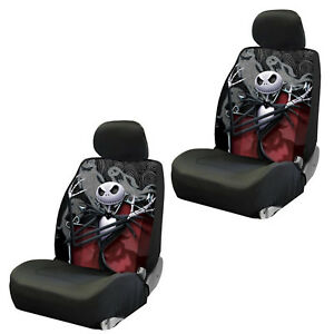 Disney Nightmare Before Christmas Jack Skellington Ghostly Low Back Seat Covers