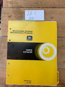 John Deere Parts Catalog No pc 1482 Merchandise Division Misc products