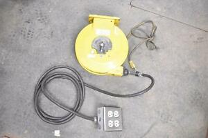 Industrial Electric Cord Reel With Receptacle