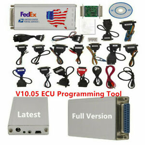 V10 05 Full Set W All 21 Items Adapters Car Ecu Programmer Diagnostic Service Us