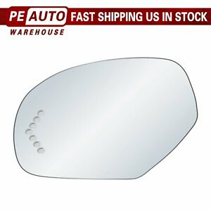 Mirror Glass Full Adhesive For 07 13 Gmc Chevy Cadillac Left Driver Side Signal