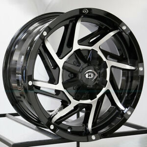 18x9 Black Machined Wheels Vision 422 Prowler 5x114 3 5x5 12 Set Of 4