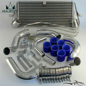 Turbo Bolt On Front Mount Intercooler Kit For Mazda Rx7 Rx 7 Fd3s Fd3 93 97 Blue