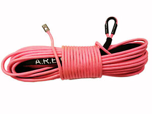 Synthetic Winch Rope Line Cable Pink 3 8 X 100 30000 Lb With Rock Guard