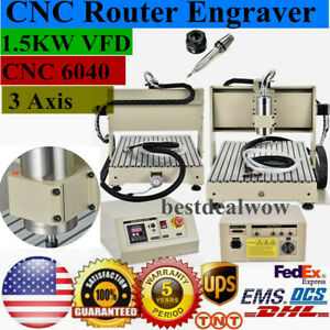 3 Axis 6040 Cnc Router Engraver 1 5kw Spindle Engraving Drilling Milling Machine