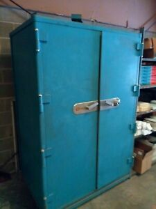 Vintage Mosler Fire Safe Was Used For Storage Tapes Heavy Duty Store Guns Money