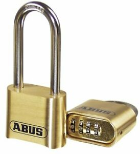 Abus 180 50 Solid Brass Combination Padlock Long Stainless Steel Shackle