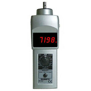 Shimpo Dt107a Contact Style Digital Tachometer Led Display 6 Cir Wheel