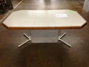 Vintage Mid Century Modern Dining Table With Leaf