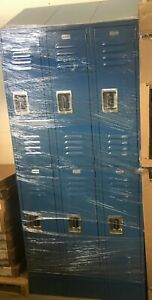 6 Door Salsbury School Locker Blue Metal 3 X 5 X 1