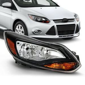 For 12 14 Ford Focus Mk3 Headlight Black Housing Lamp Right Passenger Rh Side