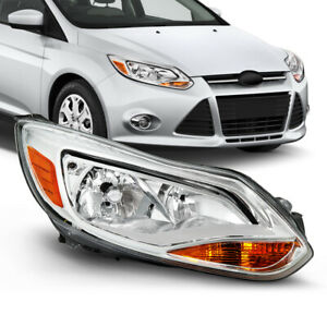 Right Passenger Rh Side For 12 14 Ford Focus Chrome Headlight Replacement Lamp